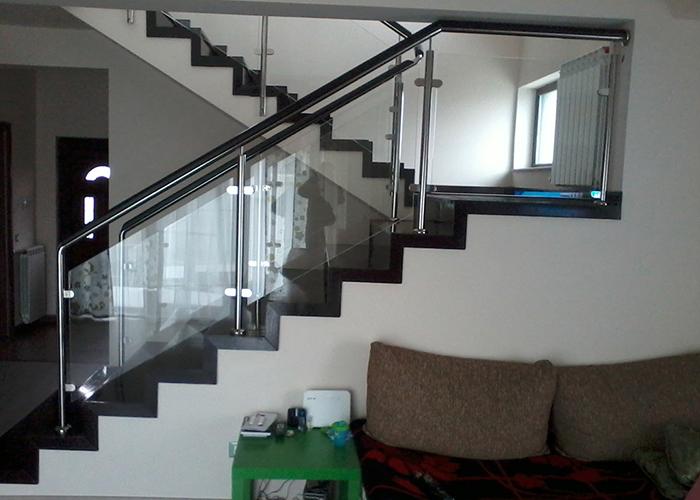 Balustrada Inox cu Sticla si Lemn - overview