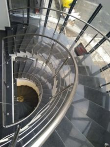 balustrada inox -scara elicoidala